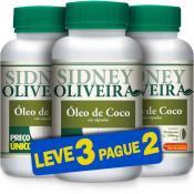 Óleo de Coco 1000mg - Sidney Oliveira 30 Cápsulas (Leve 3 Pague 2)