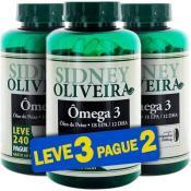 Ômega 3 Óleo de Peixe 1000mg - Sidney Oliveira Leve 240 Pague 180 Cápsulas (Leve 3 Pague 2)