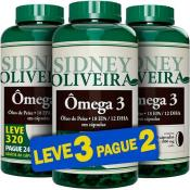 Ômega 3 Óleo de Peixe 1000mg - Sidney Oliveira Leve 320 Pague 240 Cápsulas (Leve 3 Pague 2)