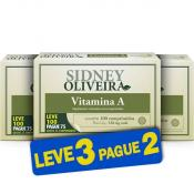 Vitamina A 600 Mcg - Sidney Oliveira Leve 100 Pague 75 Comprimidos (Leve 3 Pague 2)