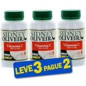 Vitamina C 60 Cápsulas - 100 Por Cento IDR - Sidney Oliveira (Leve 3 Pague 2)