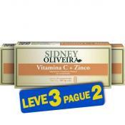 Vitamina C + Zinco 300mg - Sidney Oliveira 20 Comprimidos (Leve 3 Pague 2)