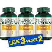 Vitamina K 250mg - Sidney Oliveira 240 Cápsulas (Leve 3 Pague 2)