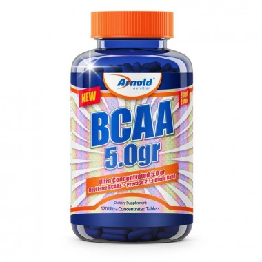 Bcaa 5.0g Ethyl Ester 120 Tabletes Arnold Nutrition