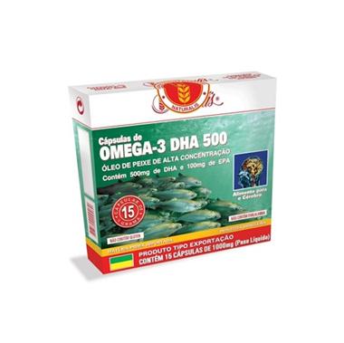 Ômega 3 DHA 500 30 cápsulas Naturalis