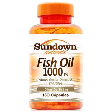 Fish Oil 1000mg 180 cápsulas Sundown