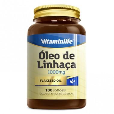 Óleo de Linhaça 100mg 100 cápsulas Vitamin Life