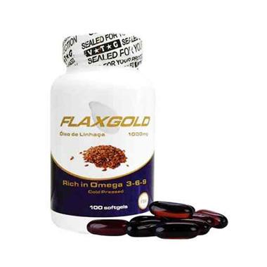 Flaxgold 100 cápsulas Óleo de Linhaça Vit Gold