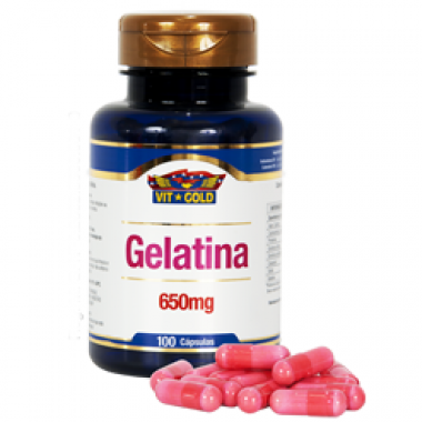 Gelatina 650mg 100 cápsulas Vit Gold