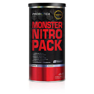 Monster Nitro Pack 44 Sachês - Probiótica