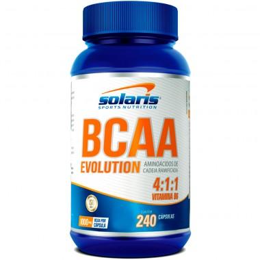 BCAA 4:1:1 + Vitamina B6 Evolution 240 Cápsulas Solaris