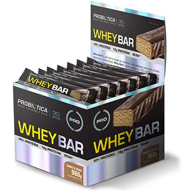 Whey Bar 24 barras com 40g Cada - Probiótica