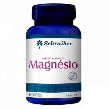 Magnésio 60 cápsulas Schraiber