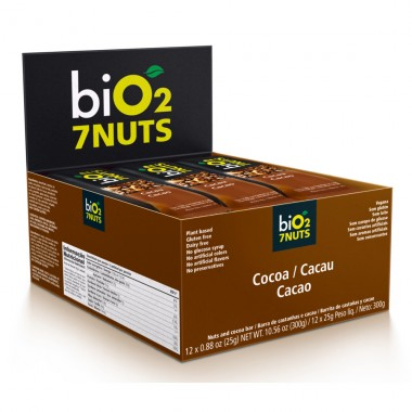 Bio2 7Nuts 25g (12 barras) Bio 2 Organic