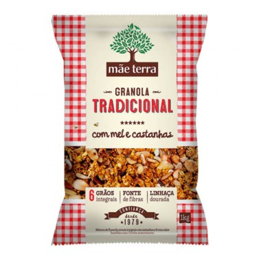 Granola Caseira Tradicional 1kg Mãe Terra