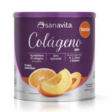 Colágeno Verão 300g Frutas Amarelas Sanavita
