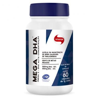 Mega DHA 1000mg 60 cápsulas Vitafor