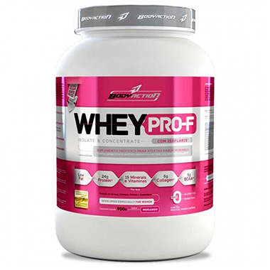 Whey Pro-F Isolate e Concentrate 900g Body Action