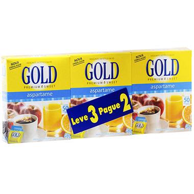 Adoçante Gold Aspartame 50 envelopes - Leve 3 Pague 2