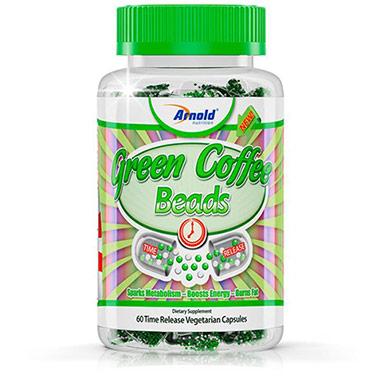 Green Coffee Beads (Café Verde) 60 Cápsulas Arnold Nutrition