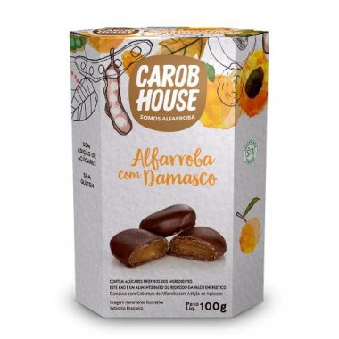 Alfarroba com Damasco Light 100g Carob House