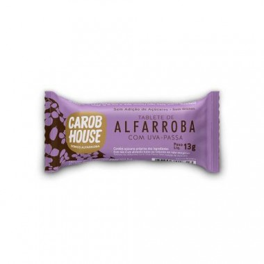 Alfarroba com Uva Passa Light 13g Carob House