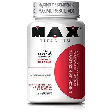 Picolinato de Cromo 120 Cápsulas Max Titanium
