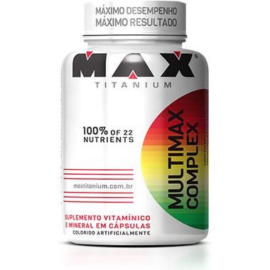 Multimax Complex Multi-Vitamínico 90 cápsulas Max Titanium