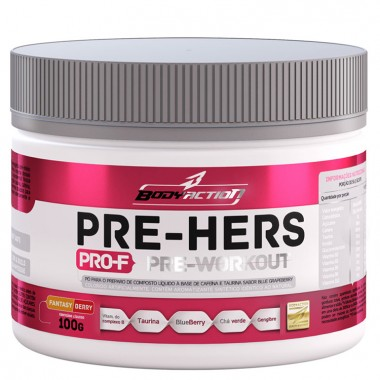 Pre-Hers Pro-F Pre-Workout 100g Body Action