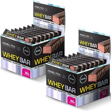 Kit 2 Caixas Whey Bar (48 barras) - Probiótica