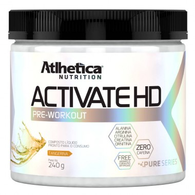 Activate HD Pre-Workout 240g Atlhetica Nutrition