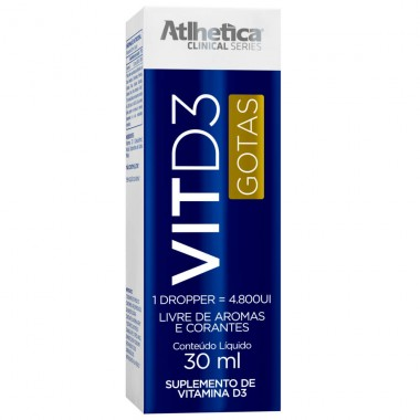 Vit D3 4800UI 30ml Atlhetica Nutrition