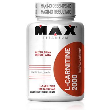 L-Carnitina Max Titanium 120 cápsulas