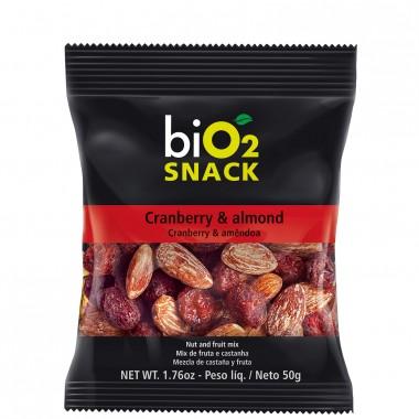 Bio2 Snack 50g Bio 2 Organic Cranberry e Amêndoa