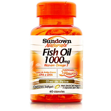 Fish Oil 1000mg 60 cápsulas Sundown