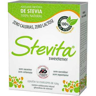 Adoçante em Pó Stevita 50 Sachês Stevia Soul