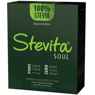Stevita Soul 50 Sachês Stevia Soul