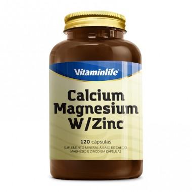 Calcium Magnesium W/Zinc 120 Cápsulas Vitamin Life