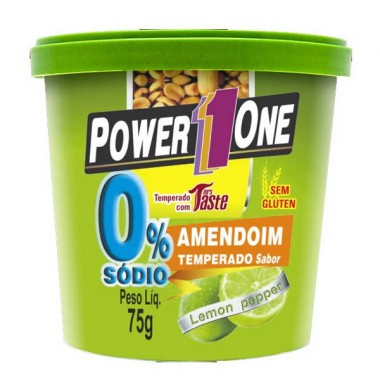 Amendoim Temperado Zero Sódio 75g Power One