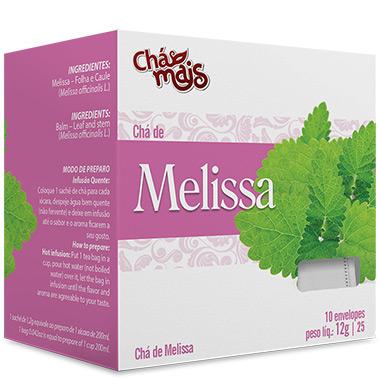 Chá 10 sachês Com 12g Chá Mais - Melissa