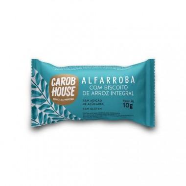 Alfarroba com Biscoito de Arroz Integral 10g Carob House