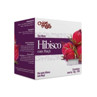 Chá de Hibisco com Maçã 10 sachês 13g Chá Mais