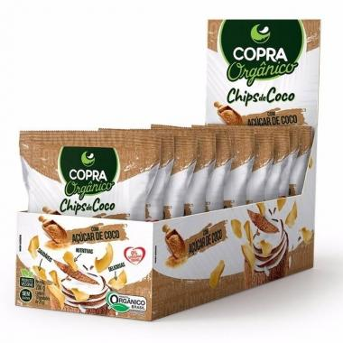 Chips de Coco Orgânico 10 sachês de 20g Copra