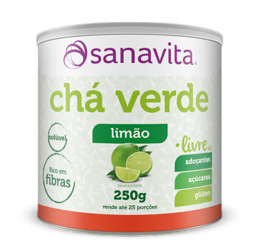 Chá Verde Livre 250g Sanavita Limão