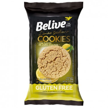 Cookies Gluten Free 34g Belive - Limão Siciliano