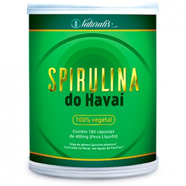 Spirulina do Havaí 180 cápsulas Naturalis