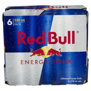Energético Red Bull pack c/ 6 latas 250ml