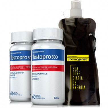 Kit 2 TestoPro® 500 +2 Squeeze Inove Nutrition
