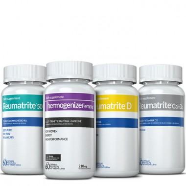 Thermogenize Femme® + Reumatrite® 500 + Reumatrite® D + Reumatrite® Cal-D3
