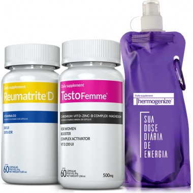 TestoFemme® + Reumatrite® D + Squeeze Inove Nutrition